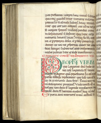 A Decorated Letter, in Gregory the Great's 'Homilies on Ezekiel' f.105v